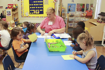 Preschool teacher lesson in Vero Beach, FL